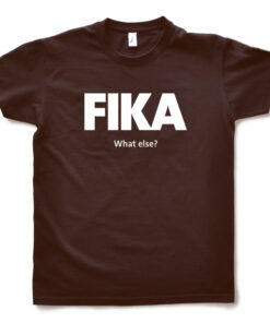 brown chocolate man fika t-shirt