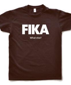 brown chocolate man fika t-shirt