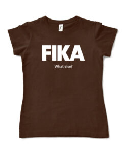 brown chocolate woman fika t-shirt
