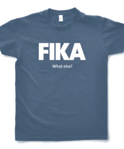 blue denim man fika t-shirt