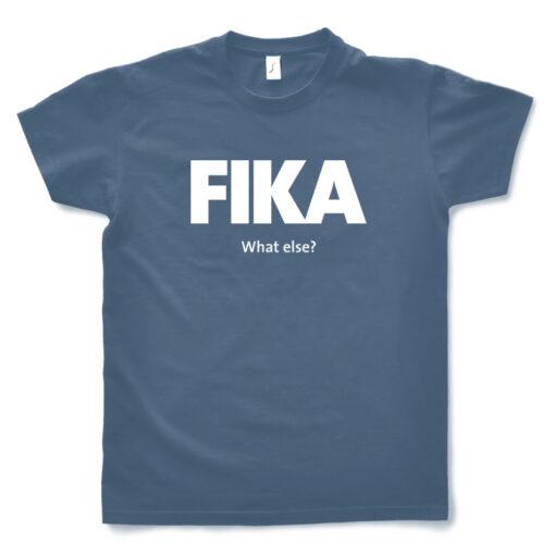 blue denim man fika t-shirt