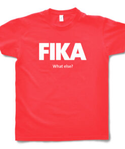 red hibiscus man fika t-shirt