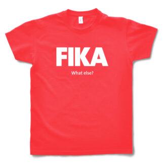 red hibiscus man fika t-shirt