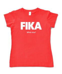 red hibiscus woman fika t-shirt
