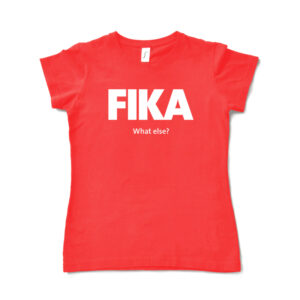 red hibiscus woman fika t-shirt