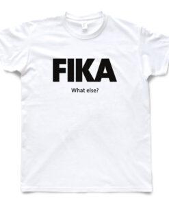 white man black fika t-shirt