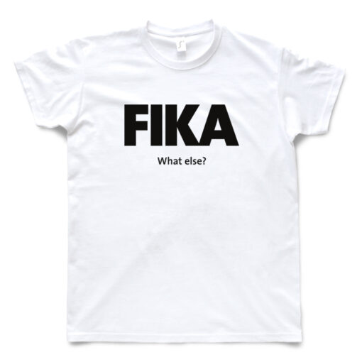 white man black fika t-shirt