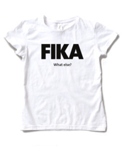 white woman black fika t-shirt