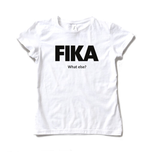 white woman black fika t-shirt